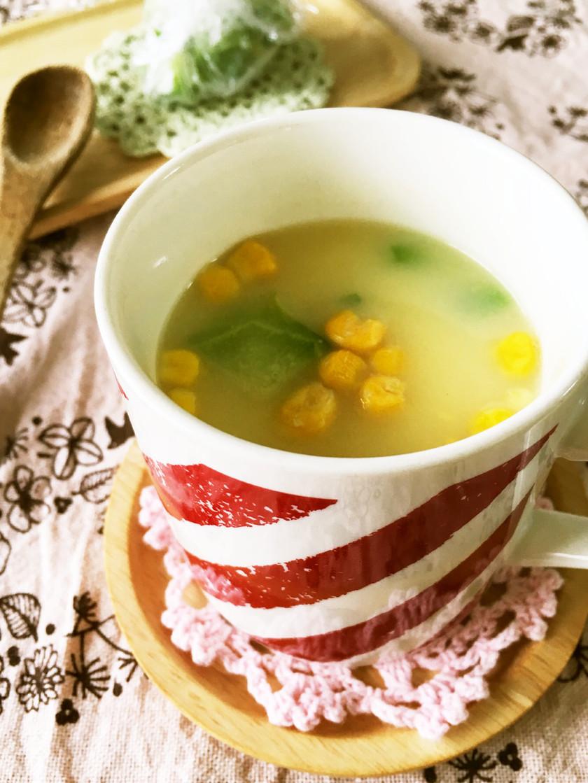野菜玉*即席スープにちょい足し♪