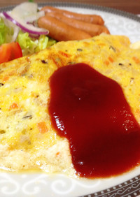 朝食ランチ♪モンサンミッシェル風オムレツ