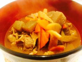 温活美肌★根野菜の柔らかピリ辛豚汁♬