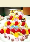 ひな祭り キティ 三段ケーキ♡