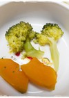 離乳食後期 かぼちゃとブロッコリー蒸し