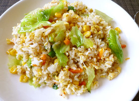 【春レタスのチャーハン】簡単に昼ご飯♪