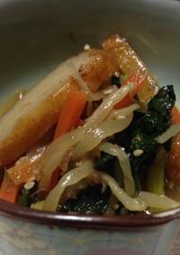 簡単!給食の味!小松菜と薩摩揚げの炒め煮