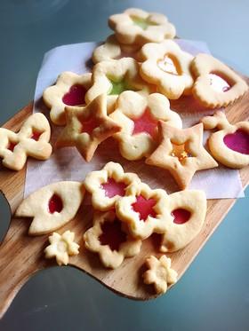 簡単ステンドグラスクッキー♡バレンタイン