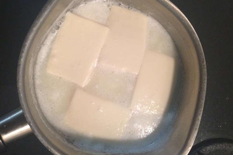 重曹 湯豆腐