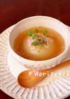 レンチンde時短♡新玉ねぎ丸ごとスープ