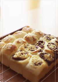オレンジ香るチョコレートのちぎりパン2種