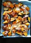 かぼちゃとベーコンのトースター焼き