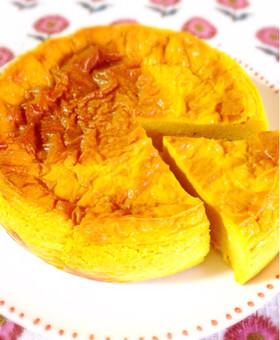 南瓜たっぷりお砂糖なしの南瓜チーズケーキ