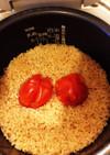 簡単☆炊飯器エバラ焼肉のたれでトマトご飯
