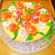 ひな祭り☆お祝いに☆寿司ケーキの写真