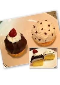 スライス生チョコでカップケーキをデコ☆