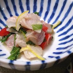 鯛とミニトマトの簡単和風柚子マリネ