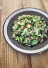 蒸しサラダ豆とベーコンのチョップドサラダ