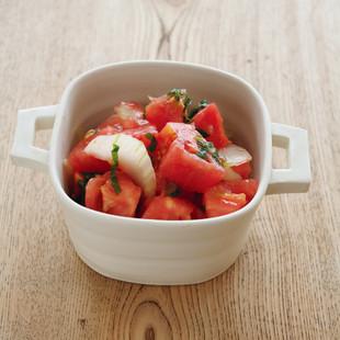 セロリとトマトの梅干し和え