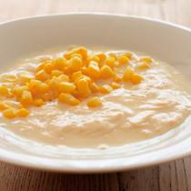 ゆばととうもろこしの食べるスープ