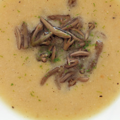 焼きなすの冷製スープ
