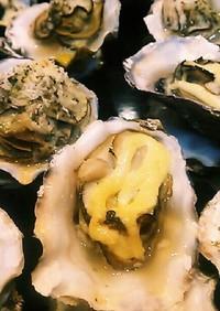 殻付き牡蠣の簡単マヨグラタン