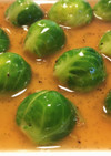 芽キャベツの胡椒オイスターソース