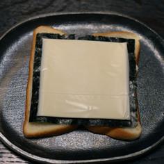海苔チーズ・ホットサンド
