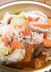 簡単  白菜と豚こまのミルフィーユ煮