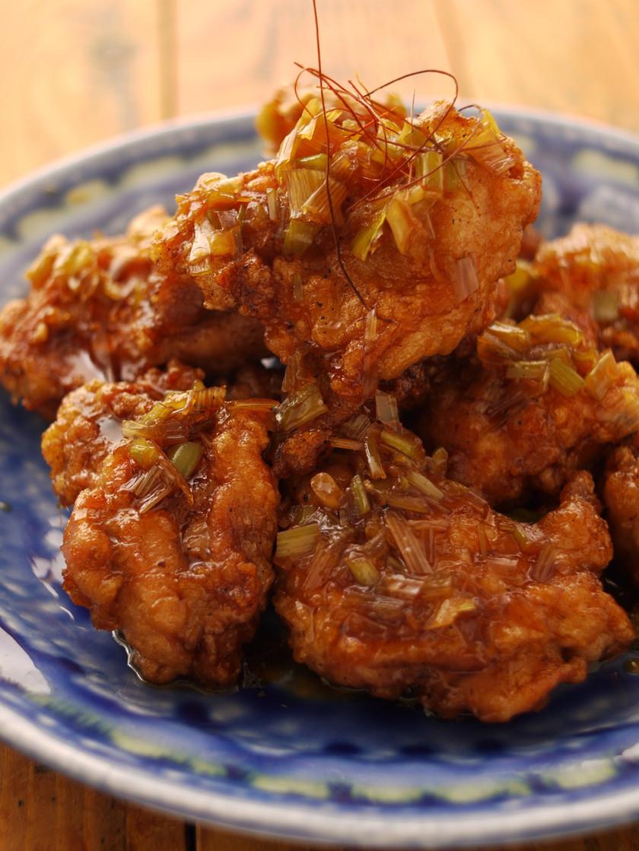 レンジでチンの簡単タレ☆油淋鶏