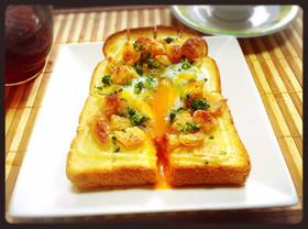 ラーマ×あげ卵♡京都 衣笠丼風トースト