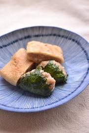 鶏ひき肉のダブルハンバーグの写真