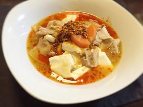 【脂肪燃焼スープアレンジ】ラー油でチゲ味