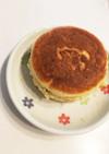カントリーマァムとHKMでパンケーキ
