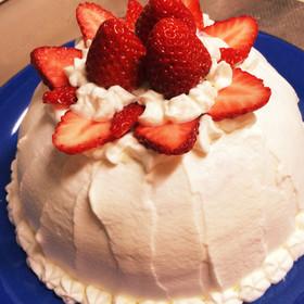 簡単豪華☆3層ドームケーキ