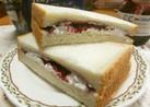 ブルーベリージャムのデザートサンドイッチ