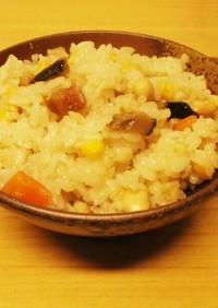 炊飯器で簡単♪中華風大豆炊き込み御飯