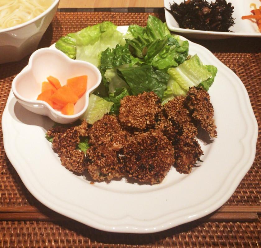 ★高タンパク★鶏むね肉のごまパセリ焼き