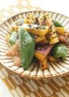 カリカリ豚肉とさつま芋の味噌ポンマリネ
