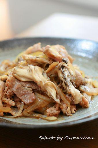 豚肉と舞茸の甘辛照り炒め