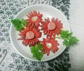お花のウインナー飾り切り