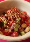 話題のアマ二油とアマランサスの豆サラダ