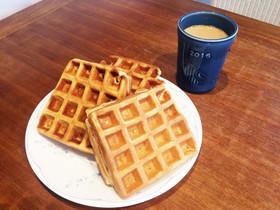 HMで簡単♪朝食にも♪アメリカンワッフル