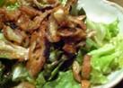 カリパリっ!とり皮とサニーレタスのサラダ