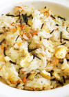 土鍋でひじきの炊き込みご飯(男子1食分)