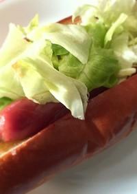 ガッツリ食べたい朝食☆簡単レタスドッグ