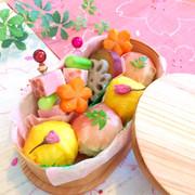 華やか春色*お花見弁当の写真