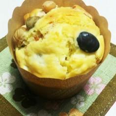 HMで蒸し豆とクリームチーズのマフィン♪