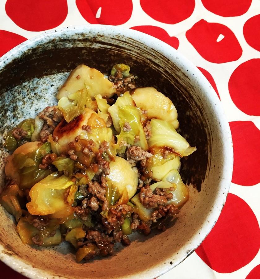 里芋とキャベツの照り煮