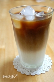 おうちカフェ☆アイス・カフェ・オ・レ。の写真