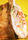 うす揚げの卵入り巾着