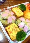 お花見に✩しらすと高菜の桜おにぎり✩
