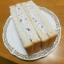 小倉クリームのデザートサンドイッチ