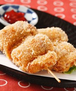 【IHレシピ】豚肉と豆腐の串揚げ